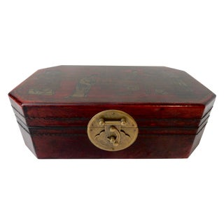 Chinese Leather & Wood Box