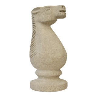Cast Stone Horse Sculpture