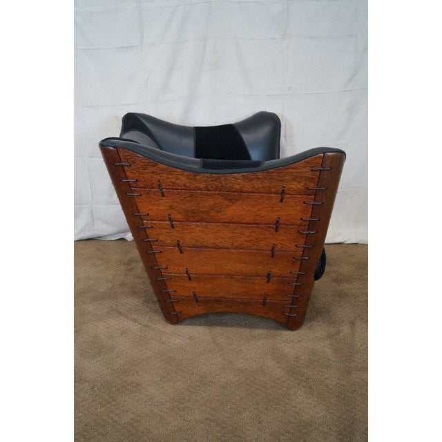 Brazilian Walnut Wing Lounge Chair - Image 3 of 10