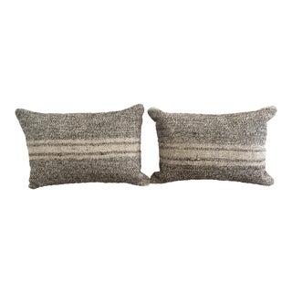 Ivory & Gray Kilim Pillows - A Pair