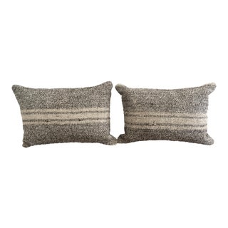 Ivory & Gray Kilim Pillows - A Pair