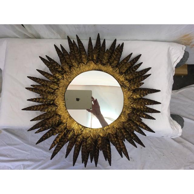 Italian Mid Century Sunburst Mirror - Image 2 of 6