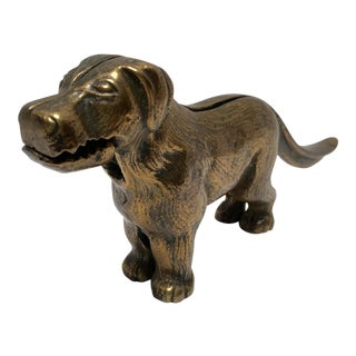 English Brass Dog Nutcracker