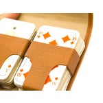 Image of Vintage German Playing Cards with Leather Case