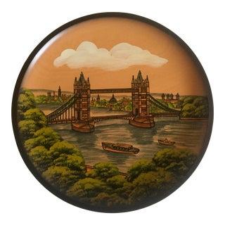 Pfaff Wooden Collectors Plate of London Bridge