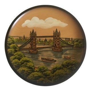 Pfaff Wooden Collectors Plate of London Bridge