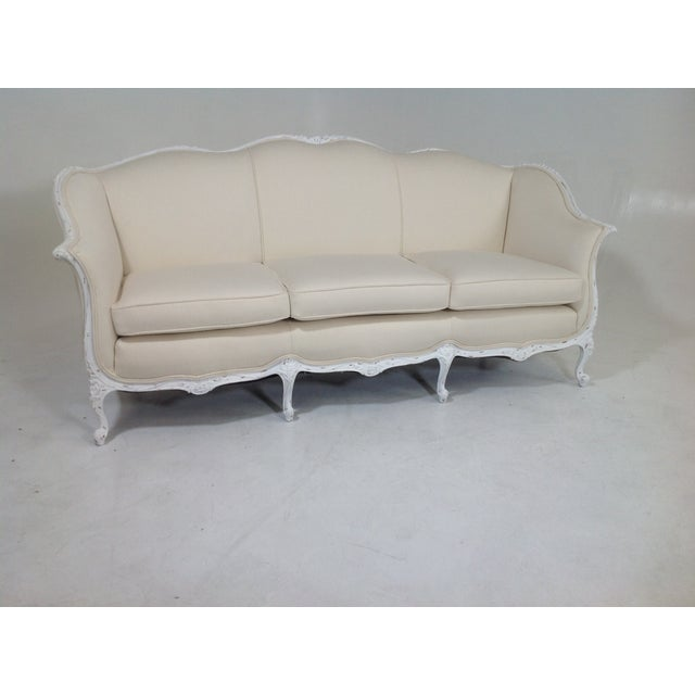 antique country french shabby chic sofa chairish. Black Bedroom Furniture Sets. Home Design Ideas