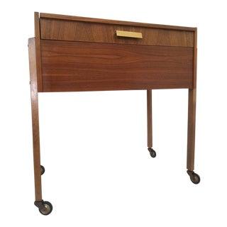 Danish Modern Teak Sewing Box Side Table