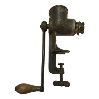 L.F. Co. New Britain Cast Iron Meat Grinder