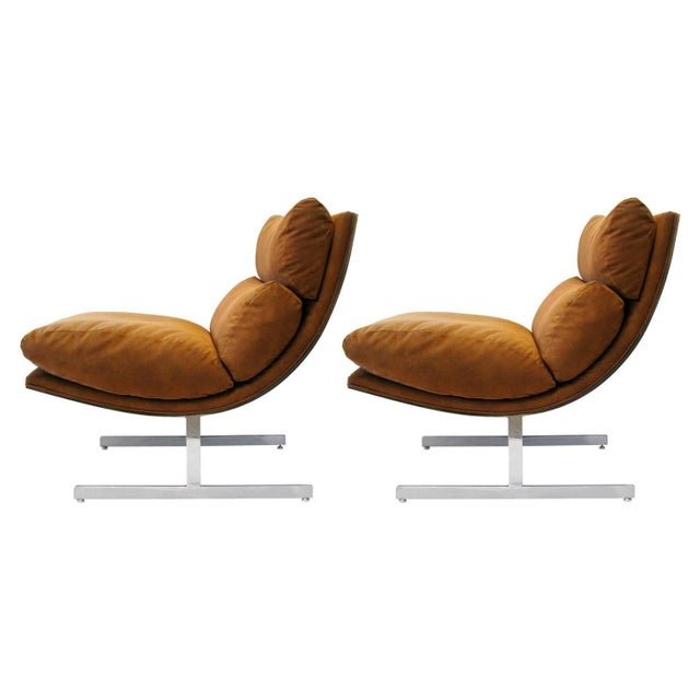 Kipp Stewart for Directional Lounge Chairs - Pair - Image 1 of 7