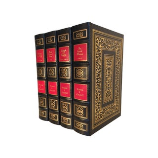 Winston Churchill Leather-Bound Books - Set of 4