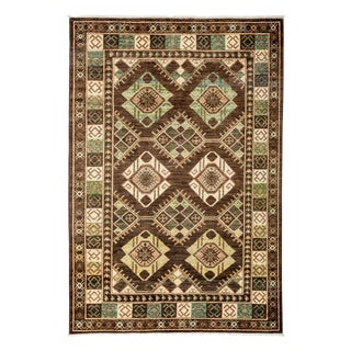 """Tribal Traditional Hand Knotted Area Rug - 5'2"""" X 7'7"""""""