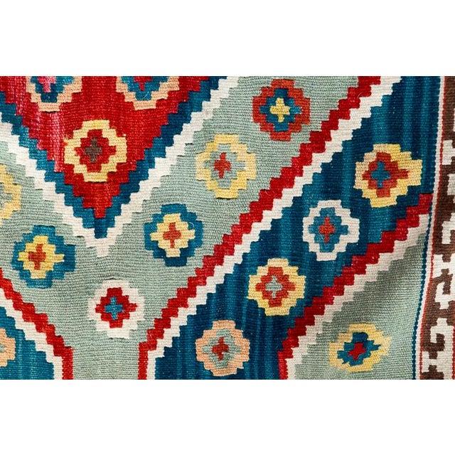 Southwest Flat Weave Rug - Image 7 of 8