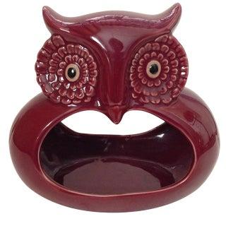 Mid-Century Owl Ashtray Candleholder