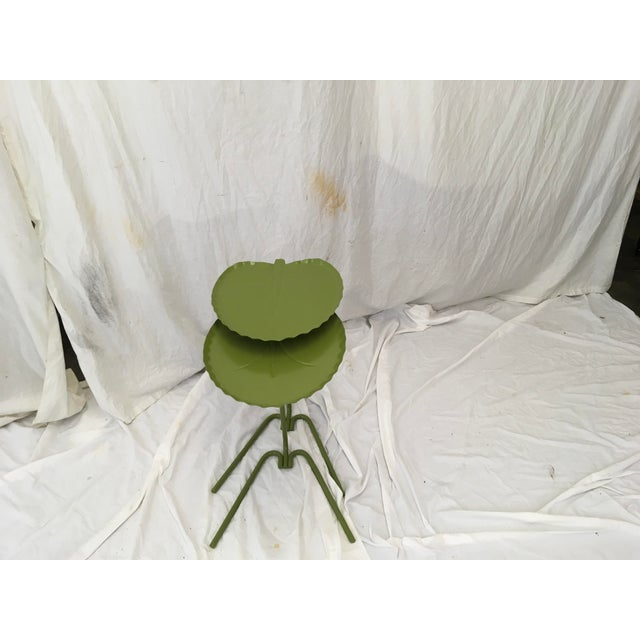 Salterini Green Lily Pad Tables, S/2 - Image 9 of 10