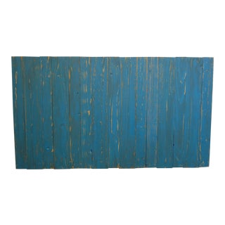 Teal Distressed Queen Barn Walls Headboard