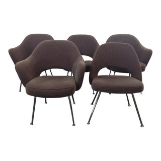 Vintage Eero Saarinen for Knoll Upholstered Executive Chairs - Set of 5