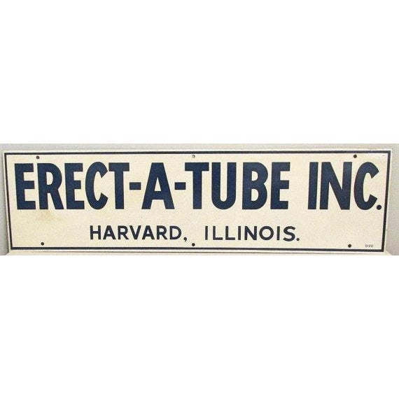 1970s Metal Erect-A-Tube Sign - Image 2 of 4