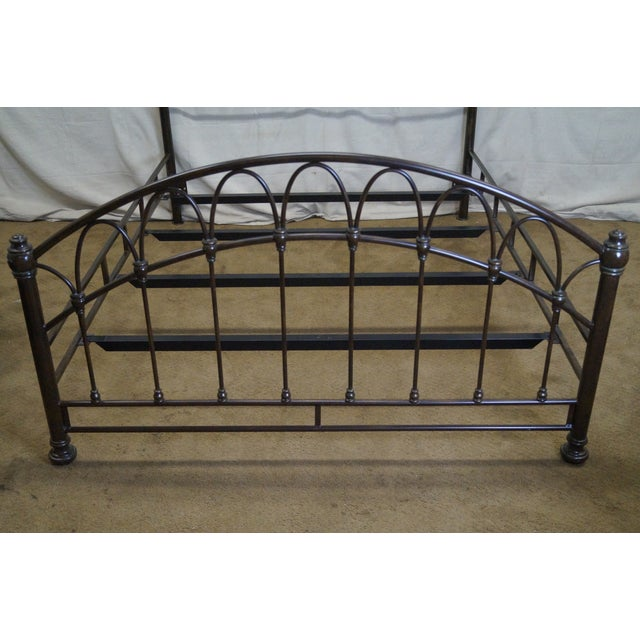 Victorian Style Iron Queen Size Bed - Image 9 of 10