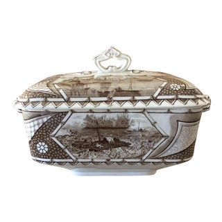 Vintage Turner & Sons Brown & White Soup Terrine