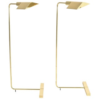 Pair of Cedric Hartman 1UWV Low Profile Luminaire Floor Lamps
