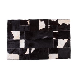 "Cowhide Patchwork Area Rug - 6'7""x4'7"""