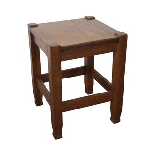 Stickley Brothers Antique Mission Oak Taboret Side Table