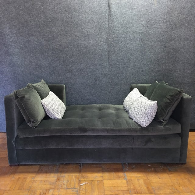 Modern Grey Daybed & Pillows - Image 5 of 8