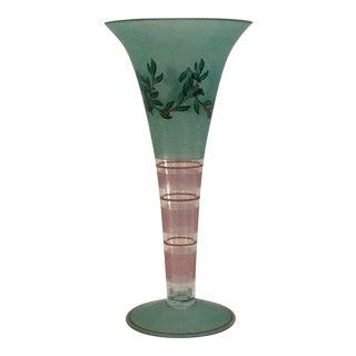 Art Glass Holiday Vase