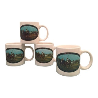 1978 Vintage Ralph Lauren Polo Limited Edition Mugs - Set of 4