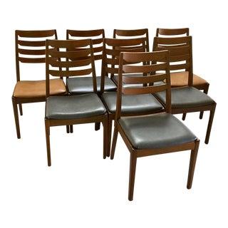 Vintage Nathan Full Rniture Teak Dining Chairs - Set of 8