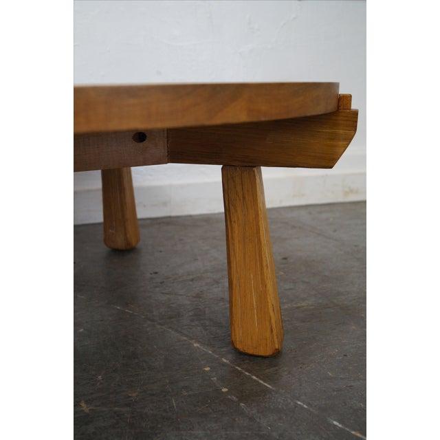 Round Coffee Table Oak: Brandt Ranch Oak Round Coffee Table