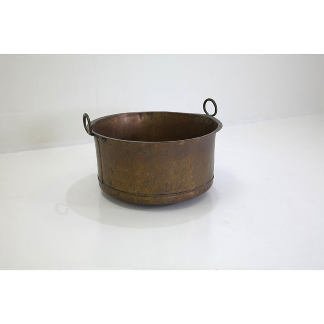 Image of Danish Large Antique Copper Pot From 1960