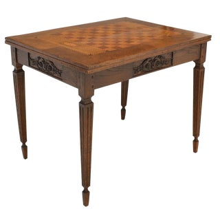 Large Antique French Games Table