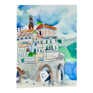 'Cinque Terra' Watercolor Painting