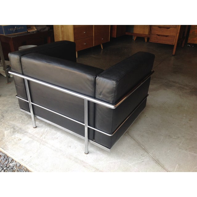 le corbusier leather lc3 gordon international chairish. Black Bedroom Furniture Sets. Home Design Ideas