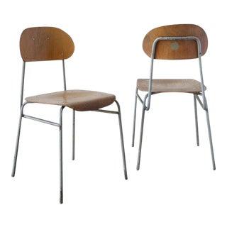 Vintage Plywood Schoolhouse Chair