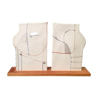 "1979 Ceramic Sculpture ""Two Together"""
