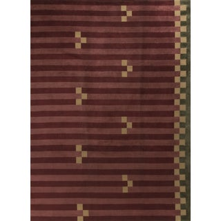 "Contemporary Hand-Knotted Wool Rug - 9'2"" x 12'"