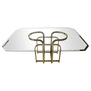 Sculptural Brass & Glass Dining Table