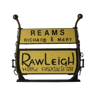 Vintage Homemade Rawleigh Advertising Sign