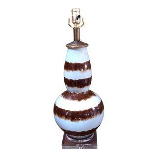 Brown Glazed Ceramic Table Lamp