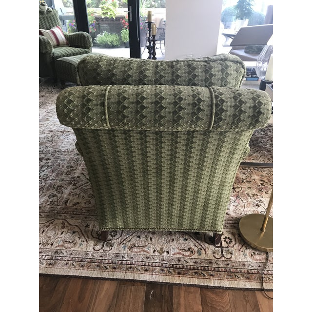 Upholstered Lounge Chairs & Ottoman - Set of 3 - Image 3 of 5