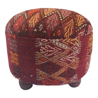 Boho Chic Madeline Weinrib Tribal Kilim Ottoman! Really Unique and Cool!