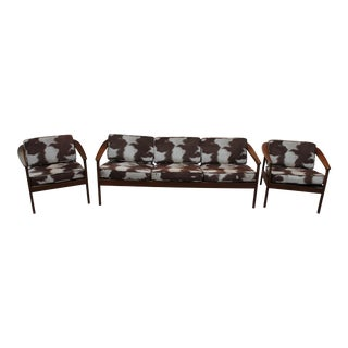 Bodafors Sweden Folke Ohlsson Sofa & Chairs - Set of 3