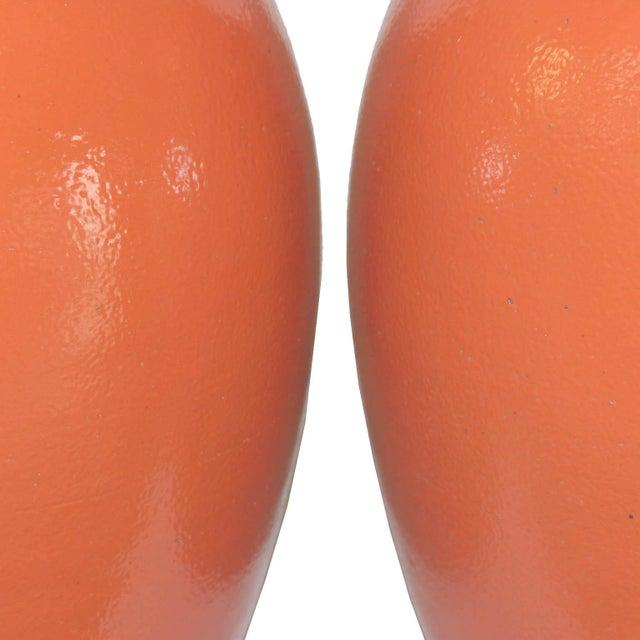 Orange Ginger Jars - a Pair - Image 2 of 3