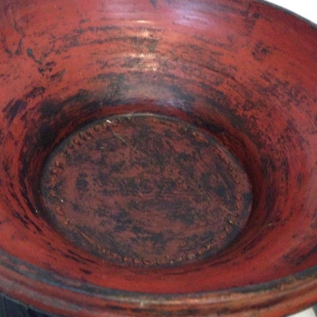 Antique Offering Bowl With Lid - Image 4 of 7