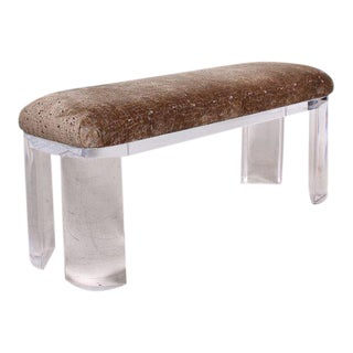 Mid-Century Modern Lucite Bench Attributed to Karl Springer