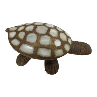 Brass & Mother of Pearl Turtle Box