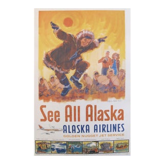 Original 1960s Alaska Travel Poster